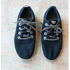 Allbirds Dark Blue Wool Runners Sneakers